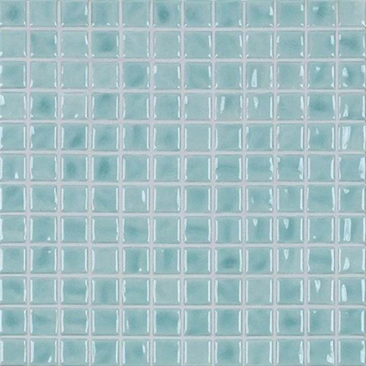 Amano eisblau glzd. Mosaik 2x2x0,65cm