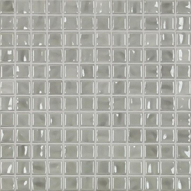 Amano hellgrau glzd. Mosaik 2x2x0,65cm