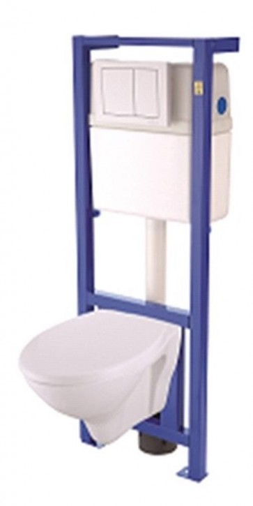 basic wand wc set mit vorwandelement trockenbau fss1020. Black Bedroom Furniture Sets. Home Design Ideas