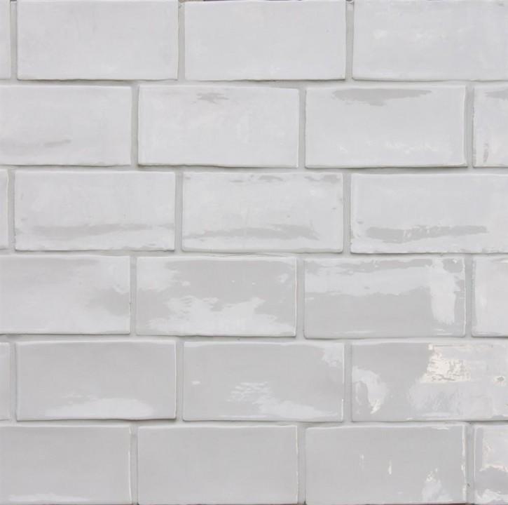 Betonbrick wall 7,5x15cm white ungl. glossy