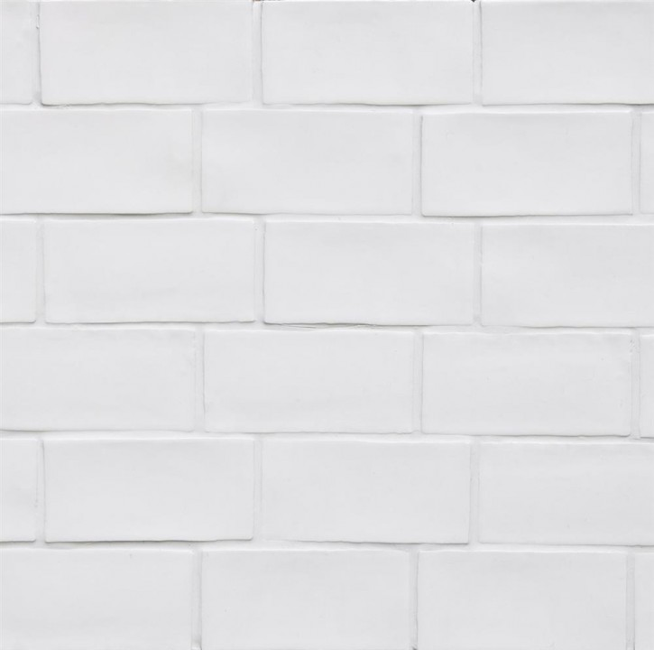 Betonbrick wall 7,5x15cm white ungl. matt