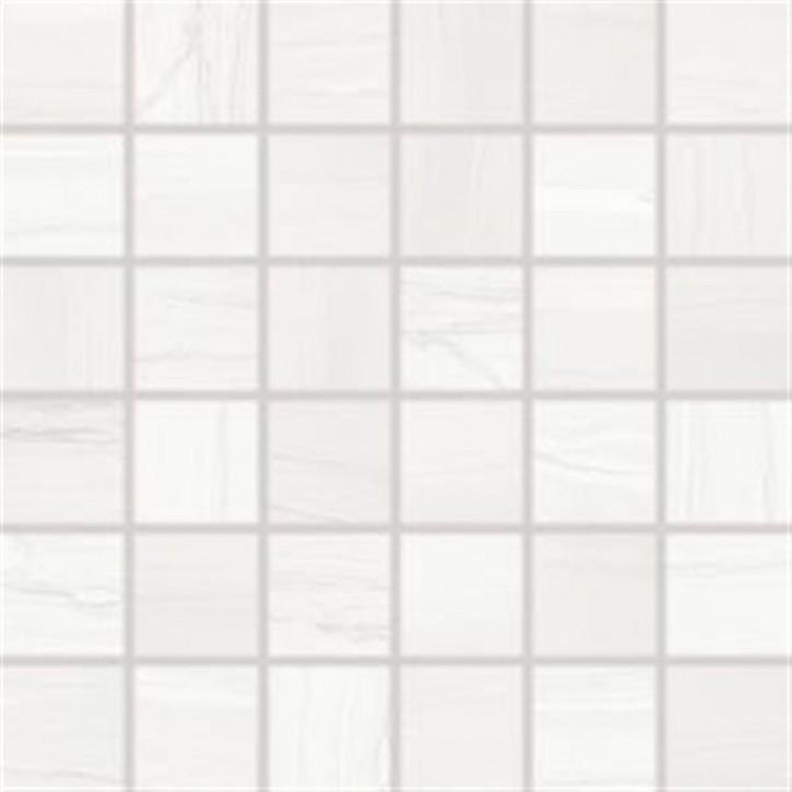 Boa Mosaik 30x30cm (5/5) weiß matt rekt.