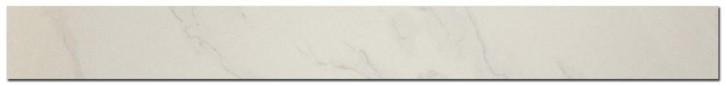 Carrara Sockel 6x60cm weiß poliert rekt.