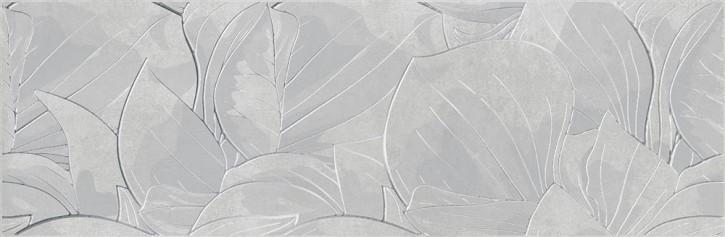 Cemento Flower Dekor 24x74cm grau rekt.