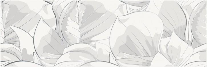 Cemento Flower Dekor 24x74cm weiß rekt.