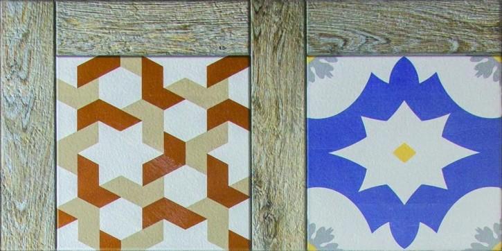 Dali Boden 30x60cm multicolor matt rekt. Abr.4