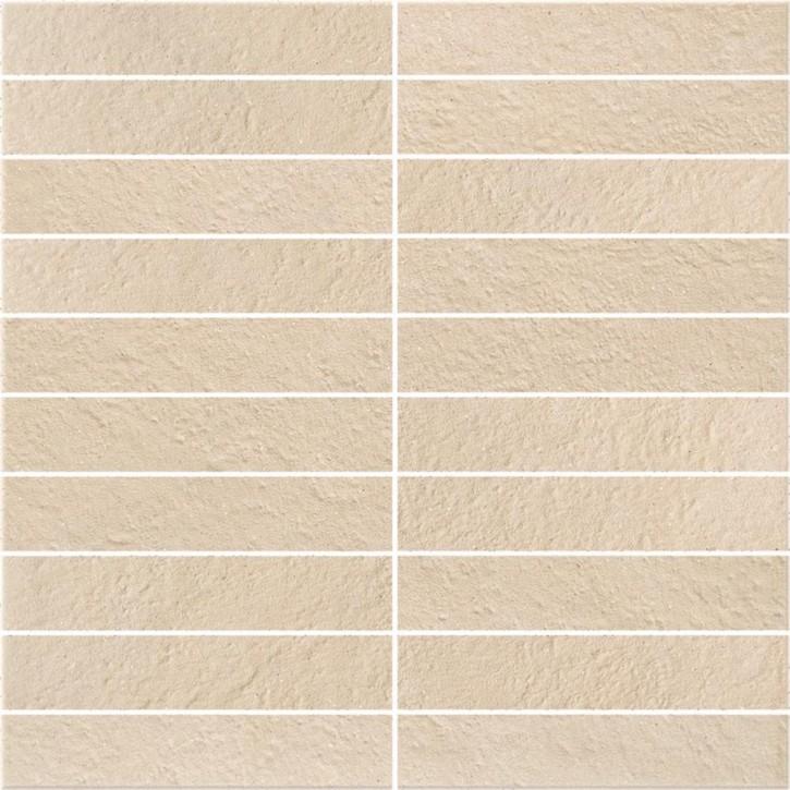 Dry River Mosaik 30x30cm cream satiniert R10 rekt.
