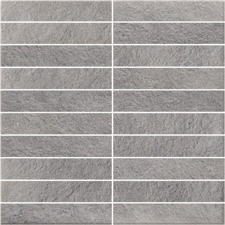 Dry River Mosaik 30x30cm grau satiniert R10 rekt.
