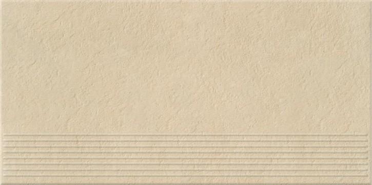 Dry River Treppe 30x60cm cream satiniert R10 rekt.