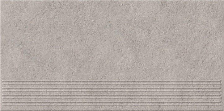 Dry River Treppe 30x60cm grau satiniert R10 rekt.