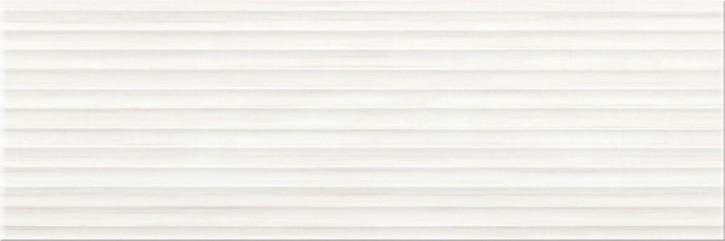 Elegant Stripes Wand 25x75cm weiß strukt.