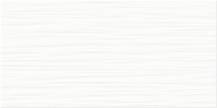 Flat Wand 20x40cm weiß glzd. stukturiert