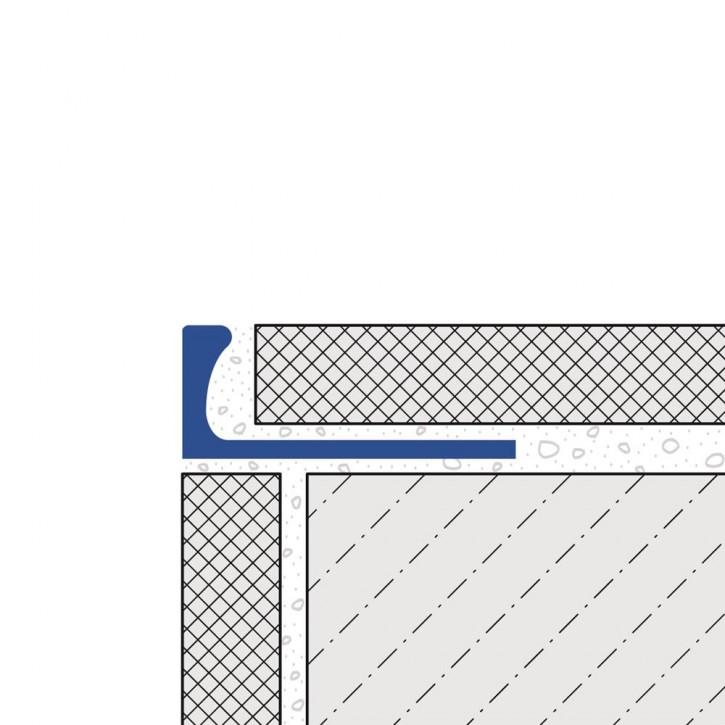 Fliesen-Abschlusss. breit Alu. chrom elox.8mm/2,5m