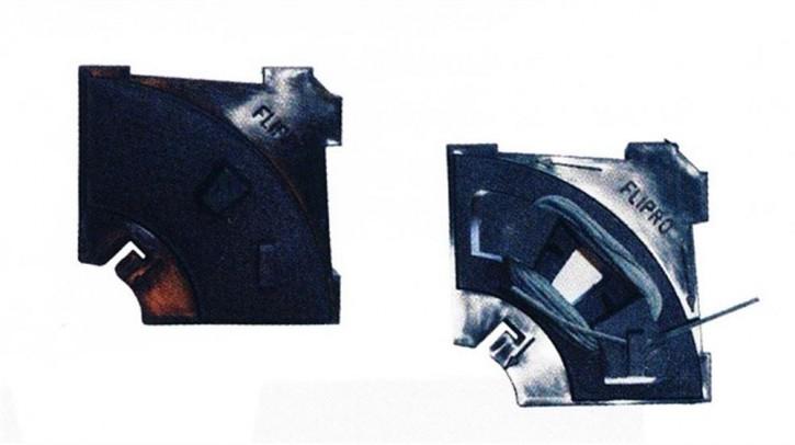 Fliesenecken, Plastik, vertikal, horizontal u. diagonal