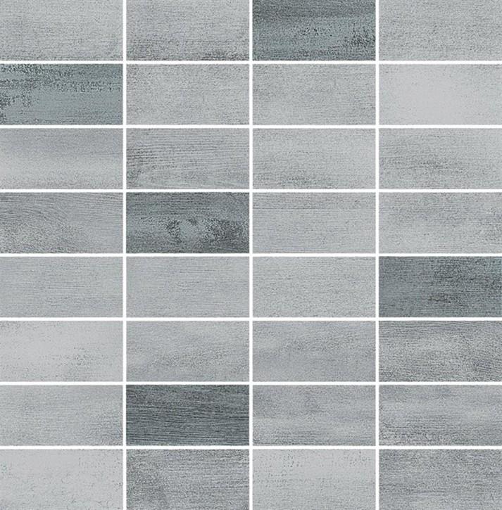 Floorwood Mosaik 30x30cm grey graphite mix R10 Abr.3