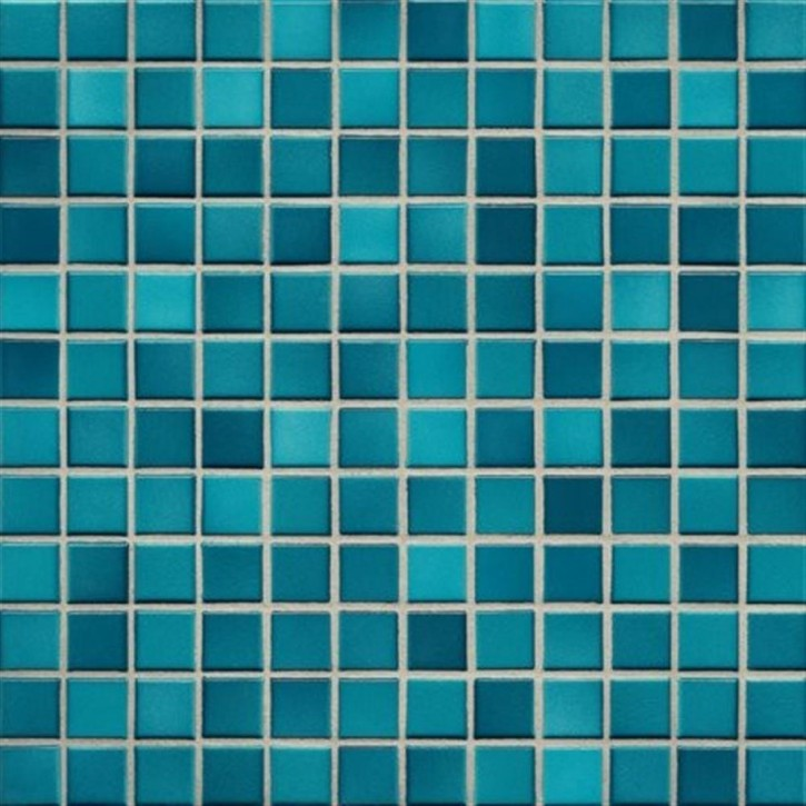 Fresh pacific blue-mix glzd. Mosaik 2x2x0,65cm