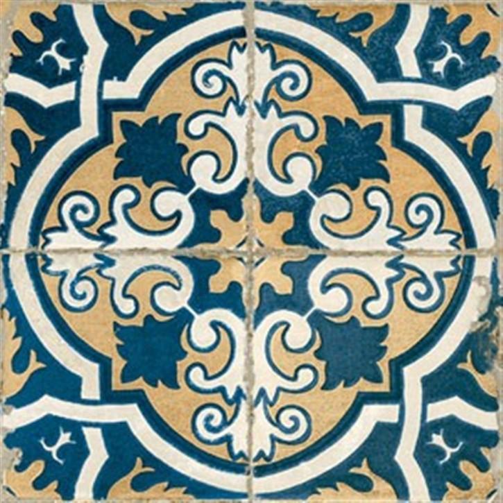 FS BY Peronda Bodenfliese 45x45cm blau dekoriert matt R9 Abr
