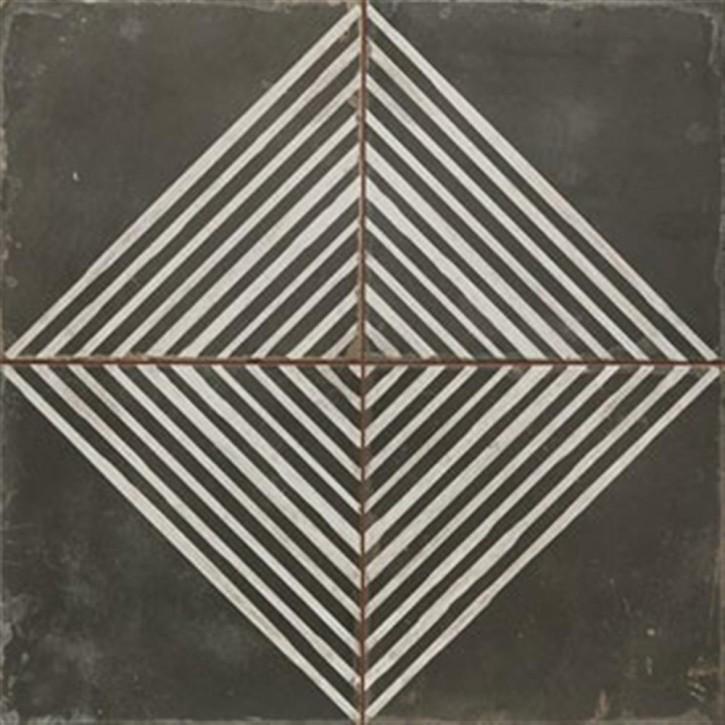 FS BY Peronda Bodenfliese 45x45cm schwarz dekoriert matt R9