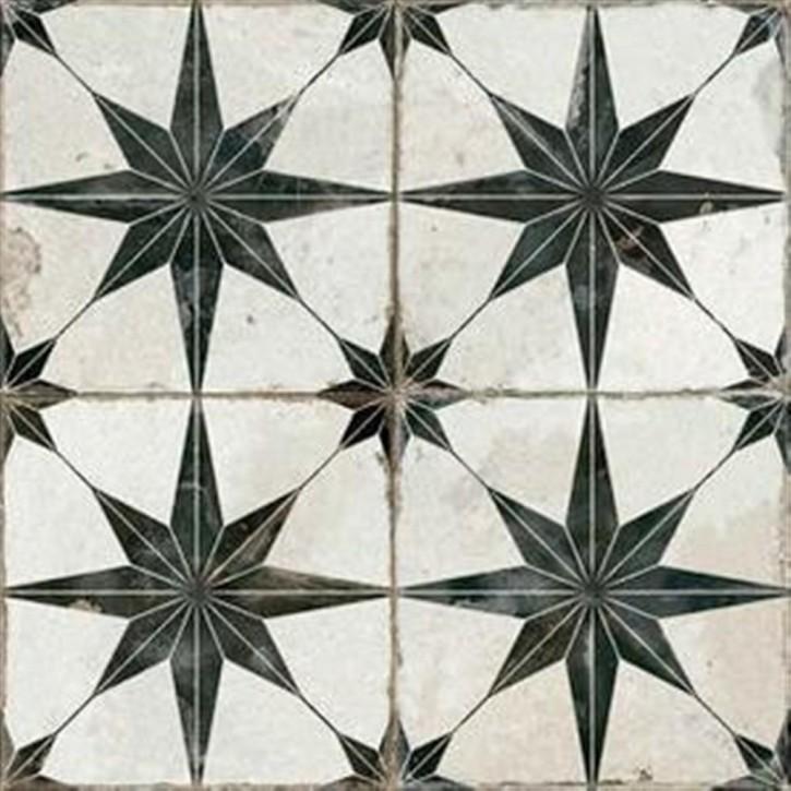 FS BY Peronda Bodenfliese 45x45cm Star-N schwarz weiß matt R