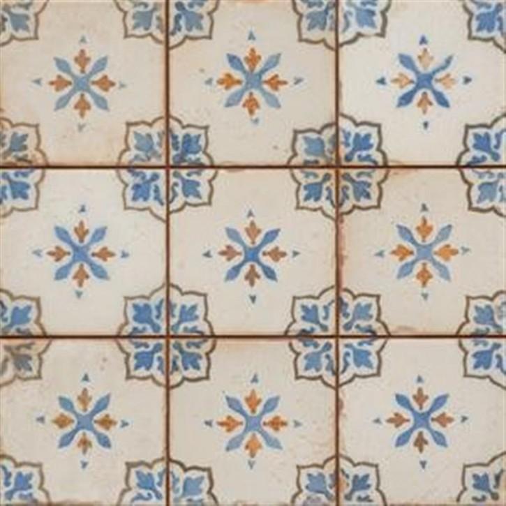 FS BY Peronda Dekor 33x33cm Mirambel-A blau-creme matt Abr.4