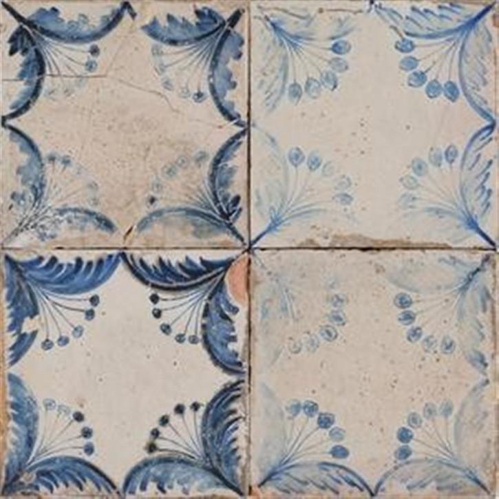 FS BY Peronda Dekor 33x33cm Oldker blau-weiß matt Abr.4