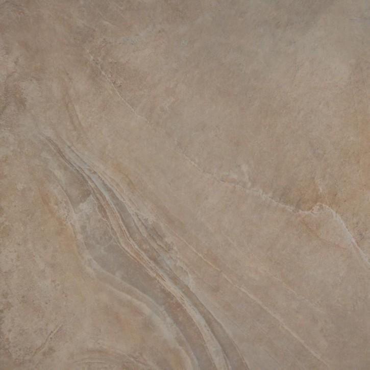 Geostone Boden 60x60cm braun glzd. rekt. Abr.4