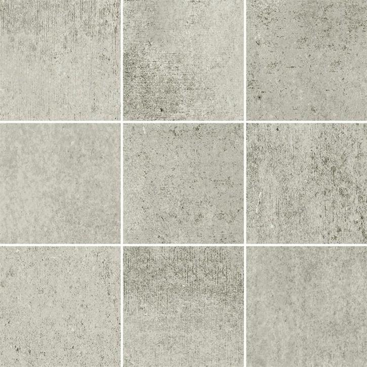 Grava Mosaik 30x30cm hellgrau matt R10B Abr.5