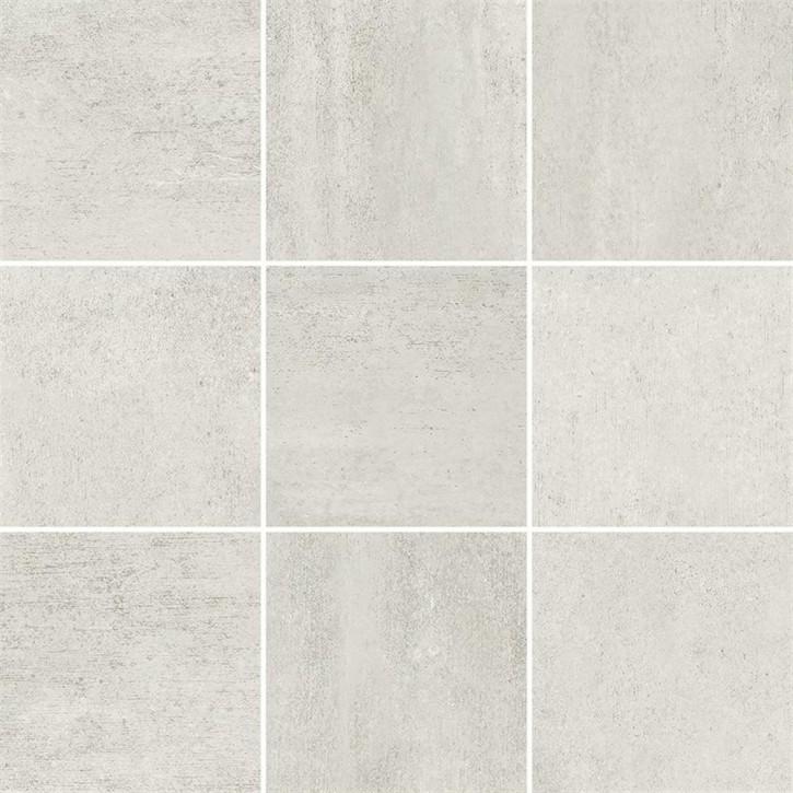 Grava Mosaik 30x30cm weiß matt R10B Abr.5