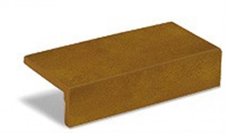 Historia Schenkelplatte 12,5x25x1,1cm tabak