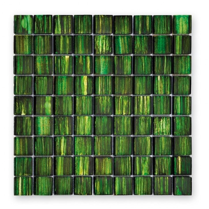 Jewelry Mosaik 28,8x28,8cm emerald grün