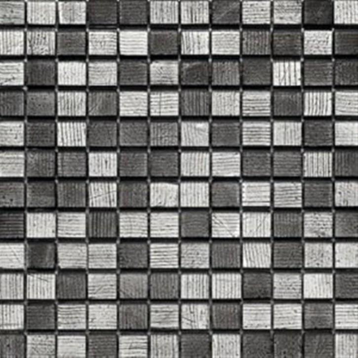 Kermos Mosaik 30x30cm (2,3/2,3) Fineline silverblack