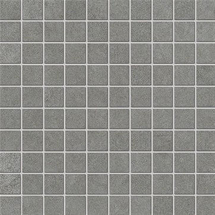 Lilu Mosaik(3/3) 30x30cm grau ungl. R10B rekt.