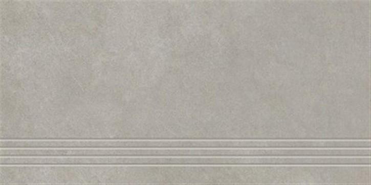 Lilu Treppenfliese 30x60cm greige ungl. R10 rekt.