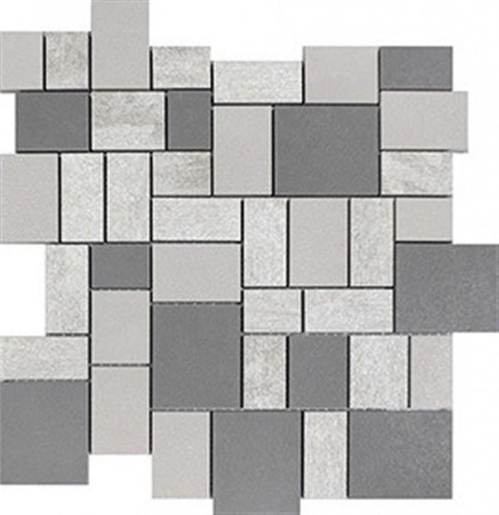 Mauerblume Mosaik 30x30cm light-grau
