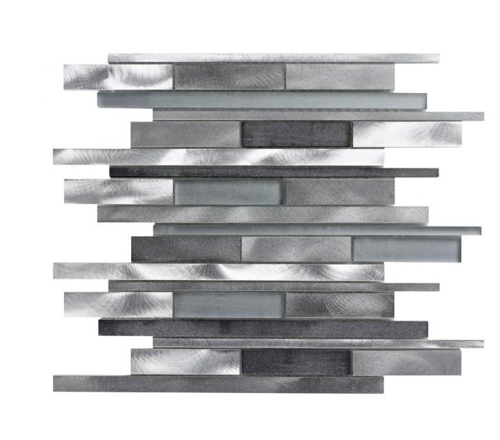 Metal 2 Mosaik Mix 30x30 black/silver