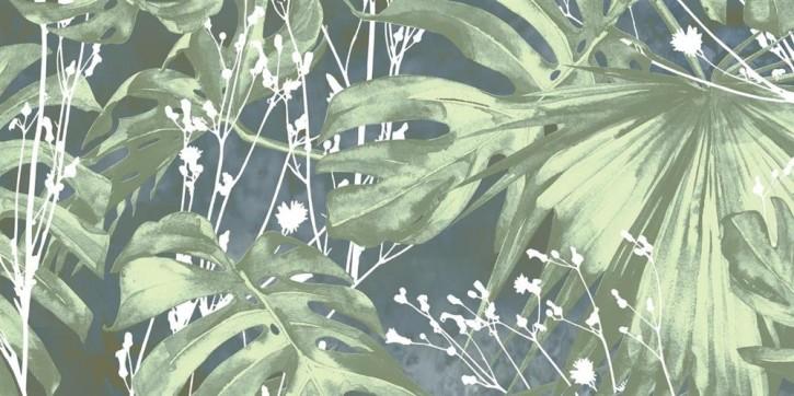 Modern White Dekor 30x60cm 2er Set tropical garden