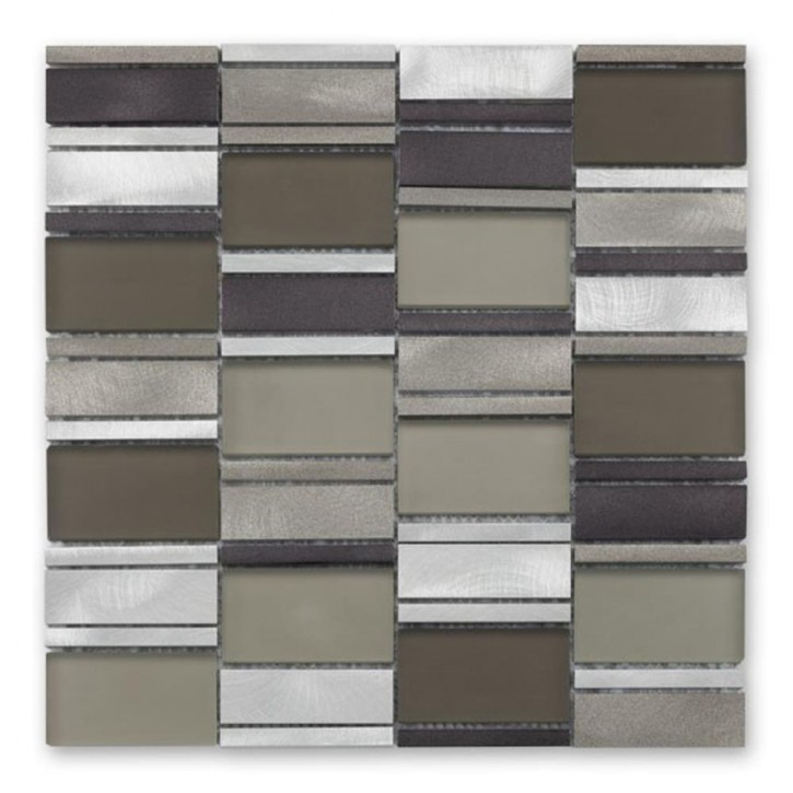 NewYork Mosaik 29,4x29,8cm metal taupe mix