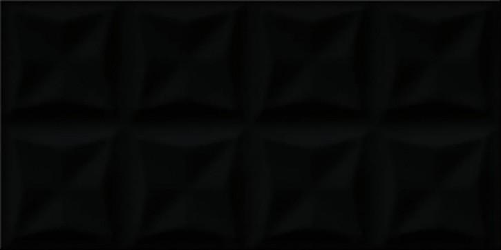 Origami Dune Wand 30x60cm schwarz glzd. strukt.
