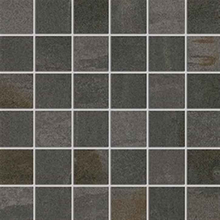Original Mosaik(5/5) 30x30cm anthrazit ungl. R10B