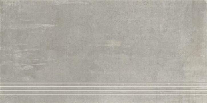 Original Treppenfliese 37,5x75cm grau ungl. R10 rekt.