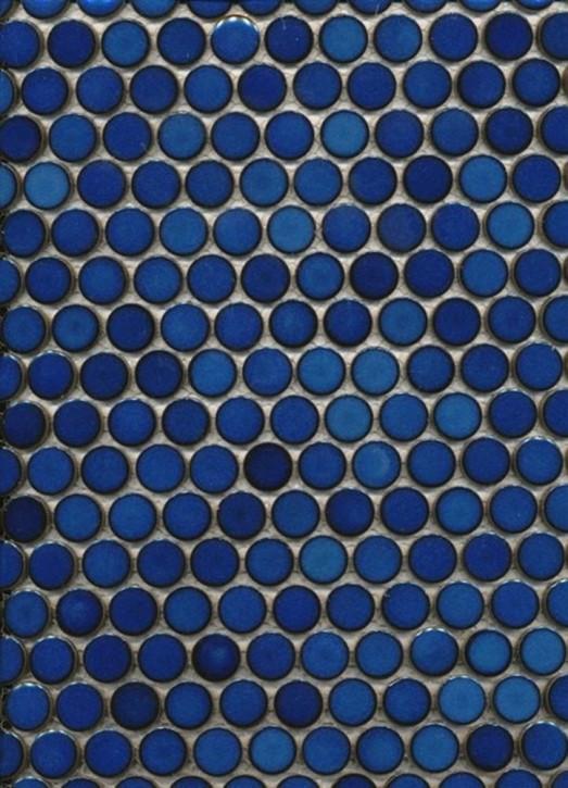 Penny Knopf uni kobaltblau glzd. 30x30cm / d = 19x4