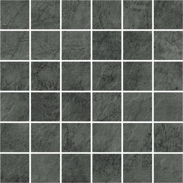 Pietra Mosaik 30x30cm dark grey R10 Abr.4