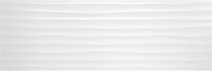 Polaris Volldekor Welle 33x100x1,15cm weiß matt rekt.
