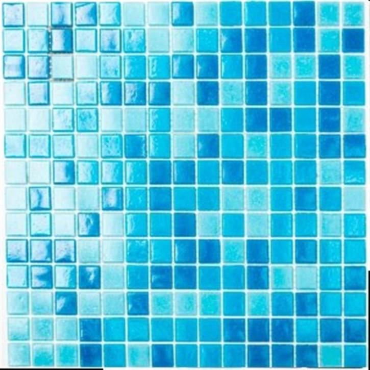 Pool Quadrat Glas mix hellblau/blau papierverklebt glzd. 30x