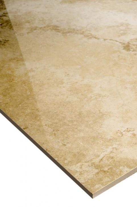 Premium Travertin Boden 60x120cm beige glzd. rekt. Abr.4