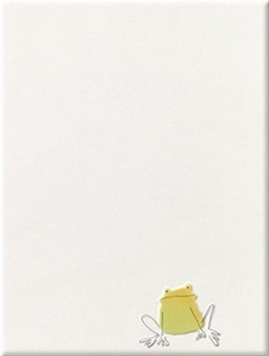 Quaaak! Dekor 25x33cm Frosch sitzend gelb