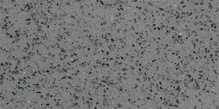 Quarzkomposit Boden 30x30cm grau poliert