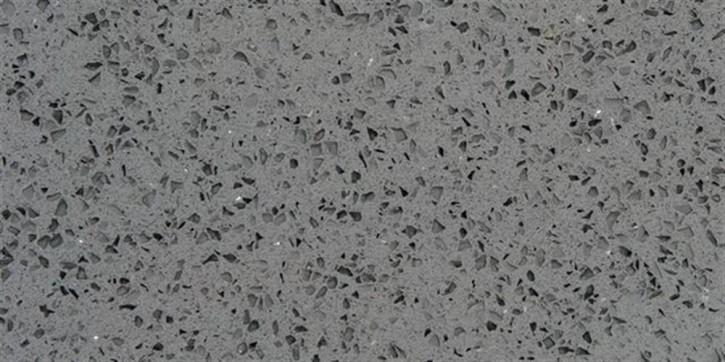 Quarzkomposit Boden 30x60cm grau poliert