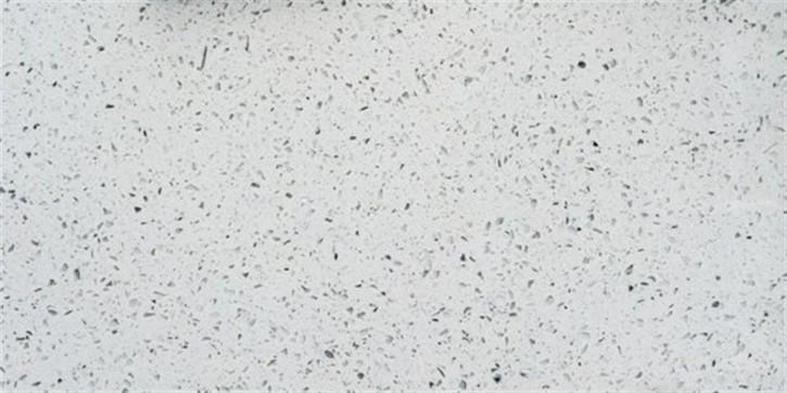 Quarzkomposit Boden 30x60cm weiß poliert