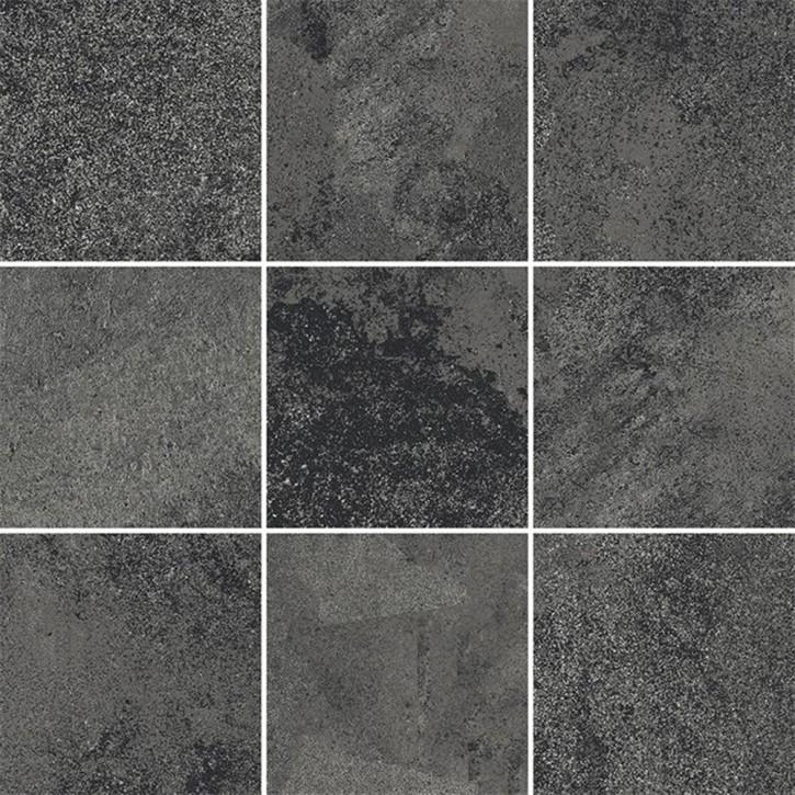 Quenos Mosaik 30x30cm grafit matt R10B Abr.4